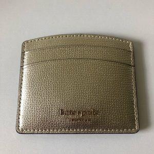 Kate Spade Gold Card Holder NWOT